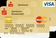 Gold Kreditkarte der Sparkasse (Visa und Mastercard)