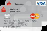 Standard Kreditkarte der Sparkasse (Visa und Mastercard)