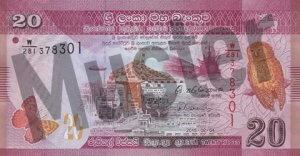 20 Sri Lanka Rupie (Vorderseite)