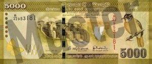 5000 Sri Lanka Rupie (Vorderseite)