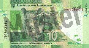 10 Südafrikanischer Rand (Rückseite)