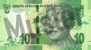 10 Südafrikanischer Rand (Vorderseite)