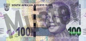 100 Südafrikanischer Rand (Vorderseite)