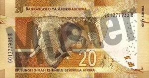 20 Südafrikanischer Rand (Rückseite)
