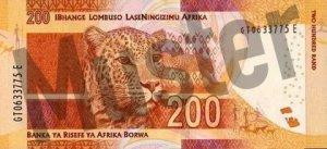 200 Südafrikanischer Rand (Rückseite)