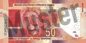 50 Südafrikanischer Rand (Rückseite)