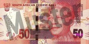50 Südafrikanischer Rand (Vorderseite)