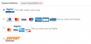 TwinkleDeals Übersicht über die Zahlungsmethoden