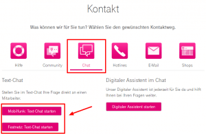 Telekom Support Chat