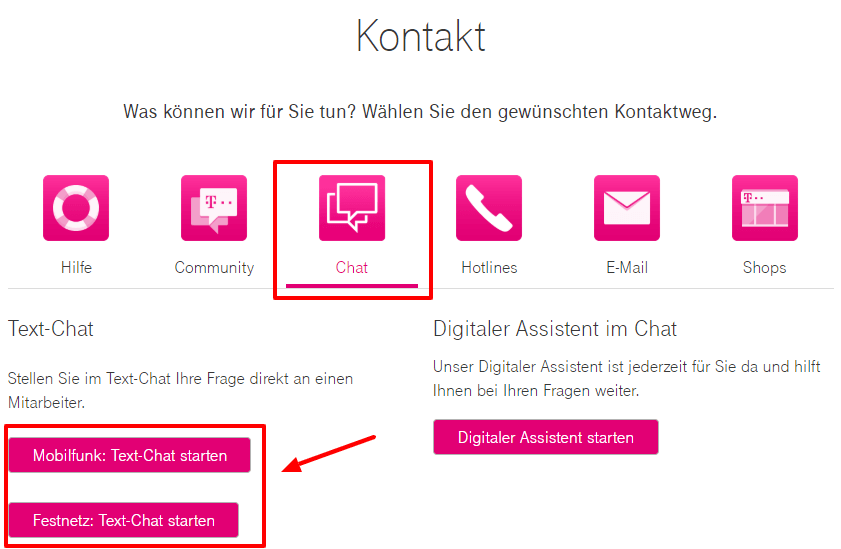 Telekom Support Mail