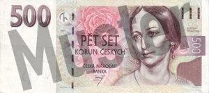 Tschechische Kronen (CZK) - 500 Banknote - Schein von vorne - Geldschein
