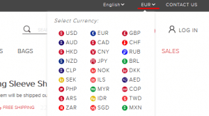 Währung bei TwinkleDeals umstellen