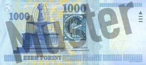 Hinten/Hinterseite Geldschein/ Banknote Forint