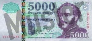Vorne/Vorderseite Geldschein/ Banknote Forint