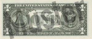 1-USD-US-Dollar-Banknote-Geldschein-Rueckseite