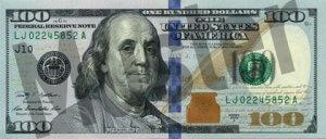 100-USD-US-Dollar-Banknote-Geldschein-Vorderseite