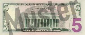 5-USD-US-Dollar-Banknote-Geldschein-Rueckseite