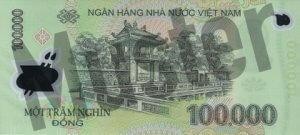 100.000 Dong (Rückseite)