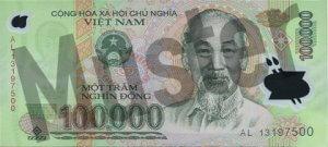 100.000 Dong (Vorderseite)