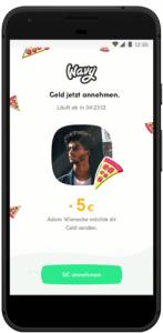 Screenshots von Wavy - Der Handy-zu-Handy Bezahl-App von Klarna