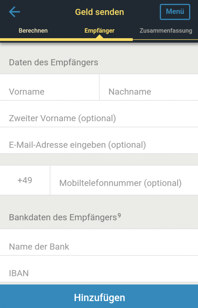 Western Union Auszahlung