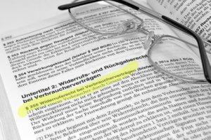 Das Widerrufsrecht bei Verbraucherverträgen nach §355