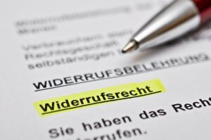 § 355 BGB: Widerrufsrecht bei Verbraucherverträgen