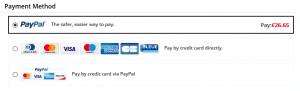 Checkout-Prozess bei Zaful mit Zahlungsarten